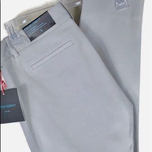 NEW Cynthia Rowley Pia Ankle Pants Light Gray
